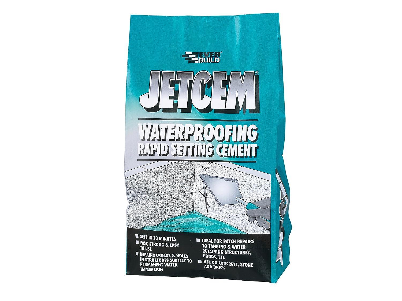 3XJetcem Water Proofing Rapid Set Cement (Single 3kg Pack) Everbuild