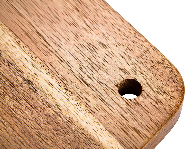 35,6/x 25,4/cm Prestige momenti in Legno di Acacia Tagliere Rotondo con Manico