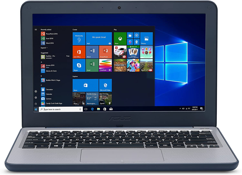 ASUS VivoBook W202NA-YS03 Rugged 11.6-inch Windows 10 S K-12 Education Laptop, Intel Dual-Core Celeron processor 2.4GHz, 4GB Ram, 64GB eMMC storage, spill proof keyboard, USB 3.0, HDMI, 2.6lbs