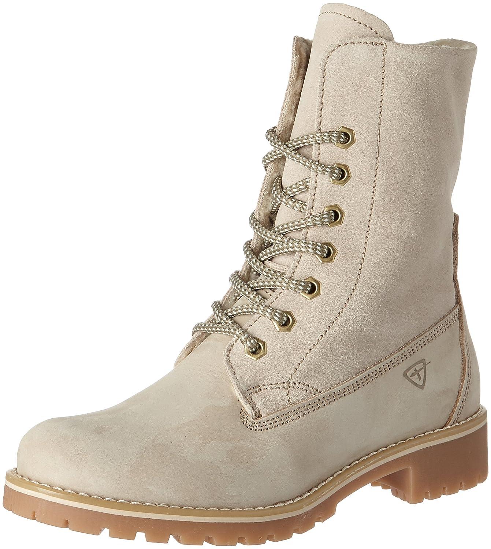 Beige (Cream) Tamaris Damen 26443 Combat Stiefel