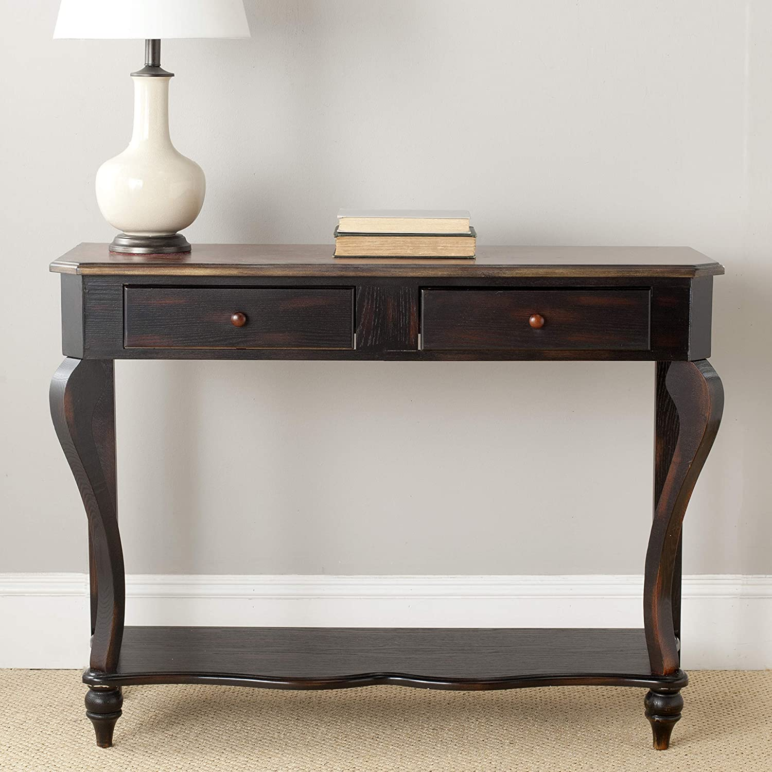 Safavieh American Homes Collection Concord Classical Dark Brown Console Table
