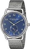 Stuhrling Original - 207M.03 - Montre bracelet - Quartz - Affichage - Analogique - Bracelet - Acier inoxydable - Argent - Cadran - Bleu - Homme