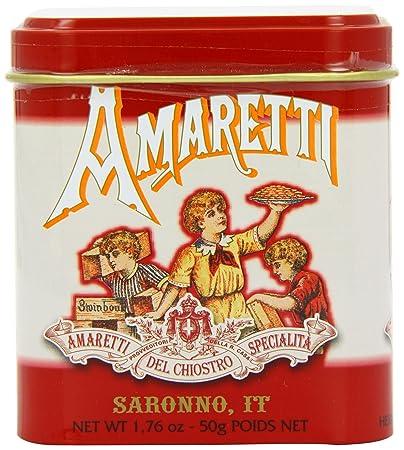Amaretti del Chiostro - Amaretti - Small Red Square Tin - 50g