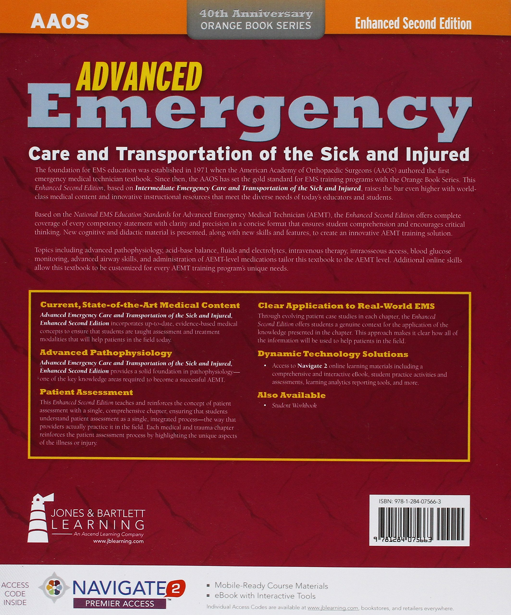 Advanced emergency care and transportation of the sick and injured advanced emergency care and transportation of the sick and injured orange book amazon american academy of orthopaedic surgeons aaos fandeluxe Gallery