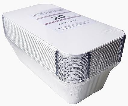 20 bandejas rectangular con tapa & # x2022; r14l & # x2022; 940 ml