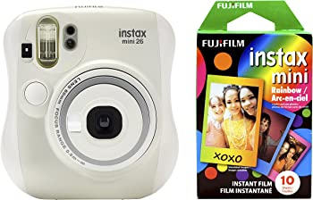 Fujifilm Instax Mini 26 Digital Camera + Rainbow Film Bundle