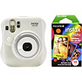 Fujifilm Instax Mini 26 + Rainbow Film Bundle - White
