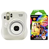 Fujfilm Instax Mini 26 + Rainbow Film Bundle - White