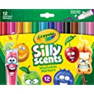 Crayola Silly Scents Scented Markers, Washable Markers, 12 Count, Gift for Kids