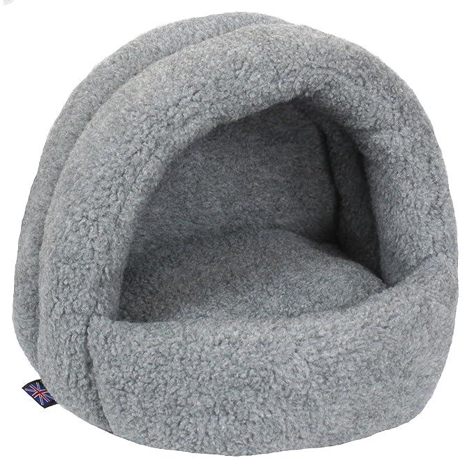P&L - Cama iglú de tejido polar para gatos (Pequeña/Gris plateado)