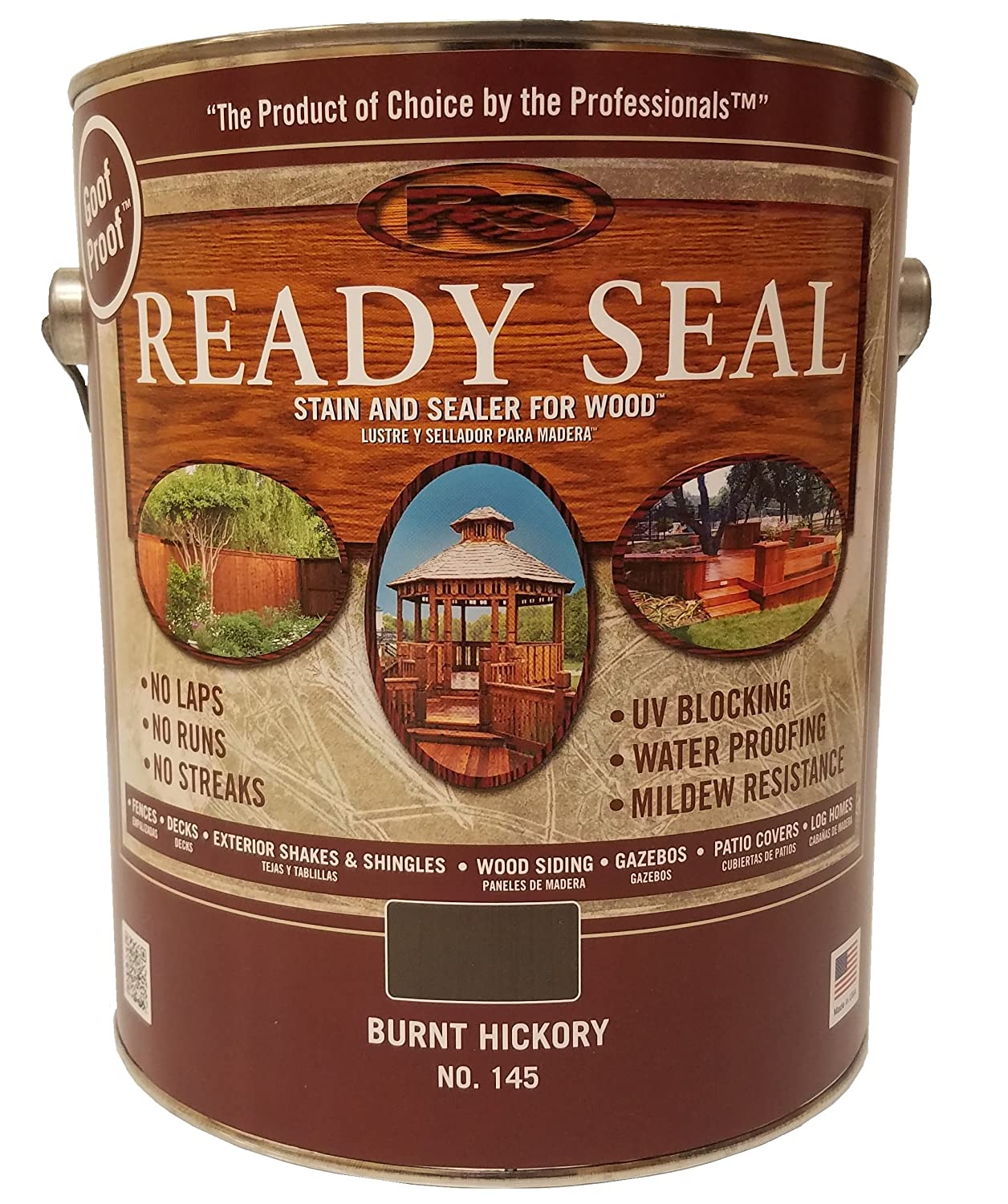 Ready Seal 145 Wood Stain Burnt Hickory 1 Gallon Amazon Com