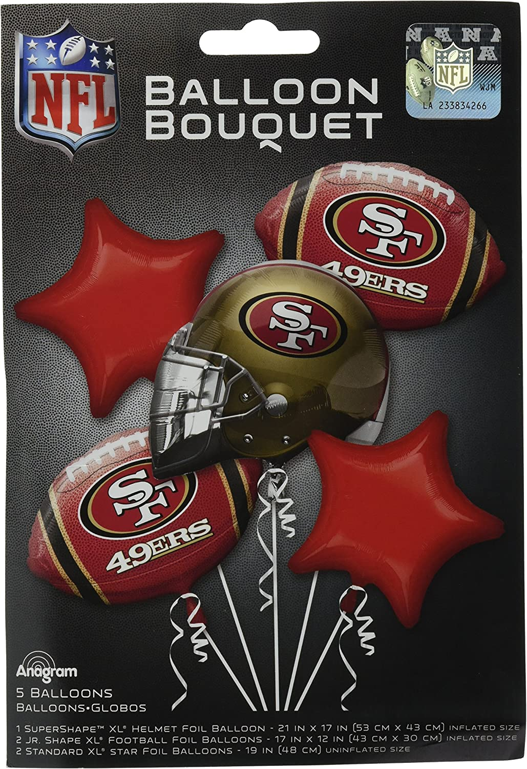 Anagram BOUQUET 49ERS, One size, Multicolor