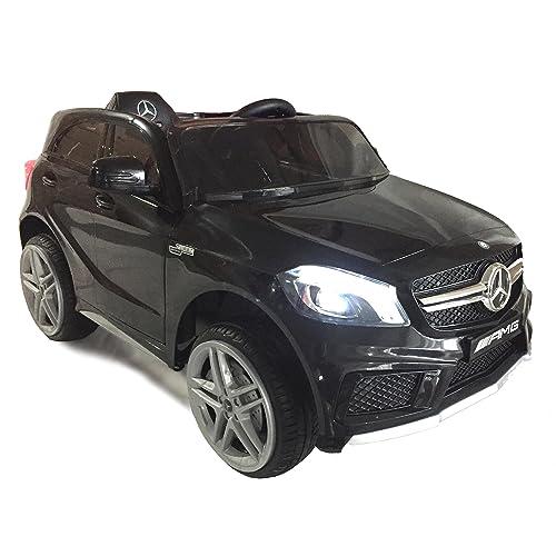 Véhicule électrique Mercedes-Benz A45 AMG, Noir, Licence originale, À propulsion par batterie, Portes d'ouverture, Siège en cuir, 2x Moteur, Batterie 12 V, Télécommande 2.4 Ghz, Roues