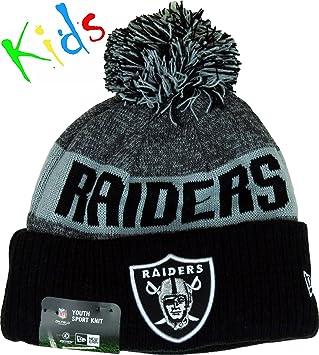 091f6d61b2e New Era Nfl Sideline Bobble Knit Jr Oakrai Otc - Cap line Oakland Raiders  for Boy