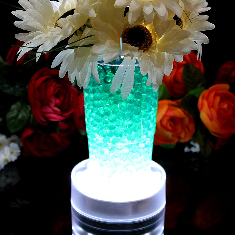 Leuchtsockel LED für Glasblock Deko Kristall Hochzeit Vasen