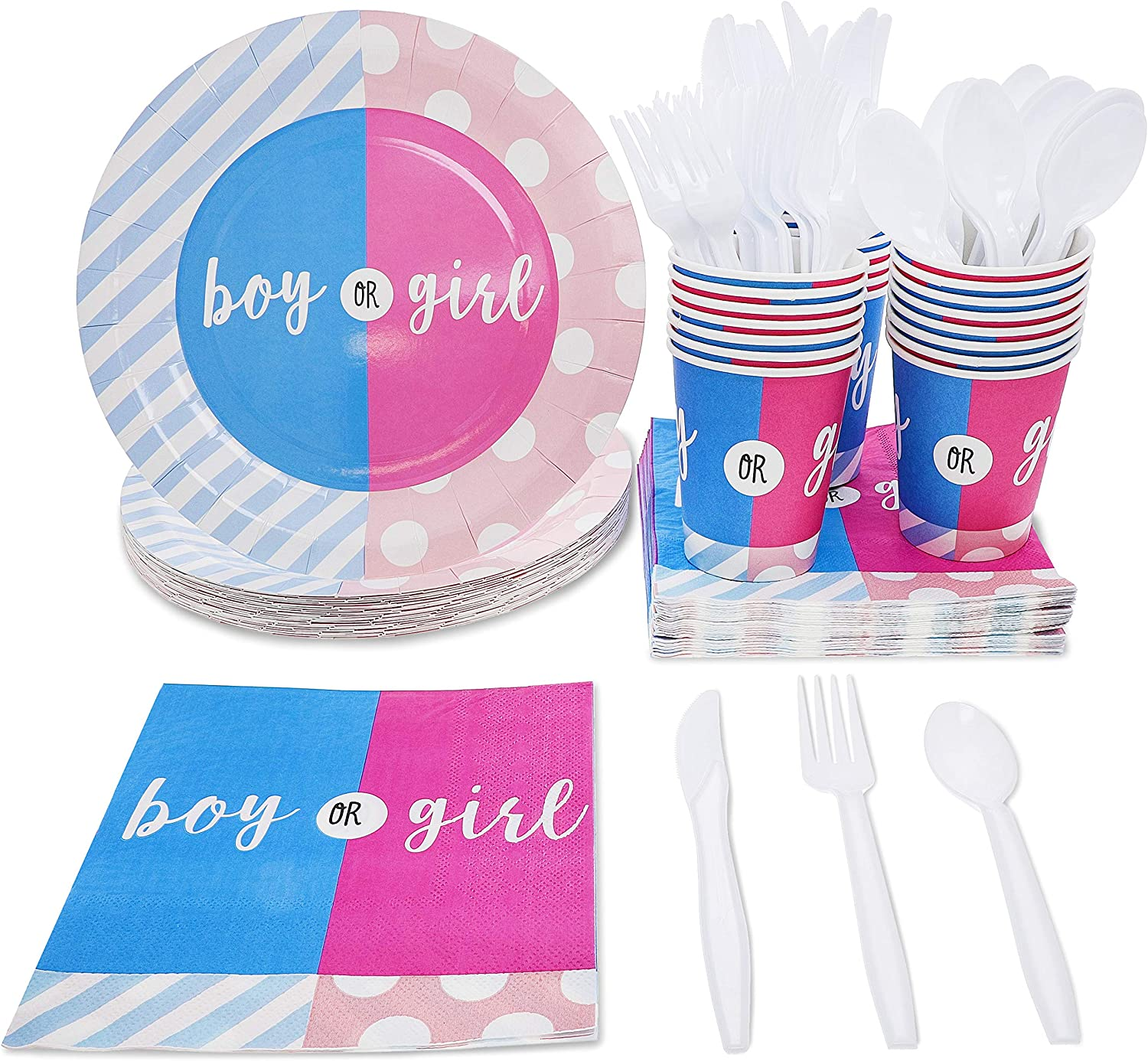 ~ Gender Reveal Party Supplies Dinner BABY SHOWER Girl or Boy LUNCH NAPKINS 16