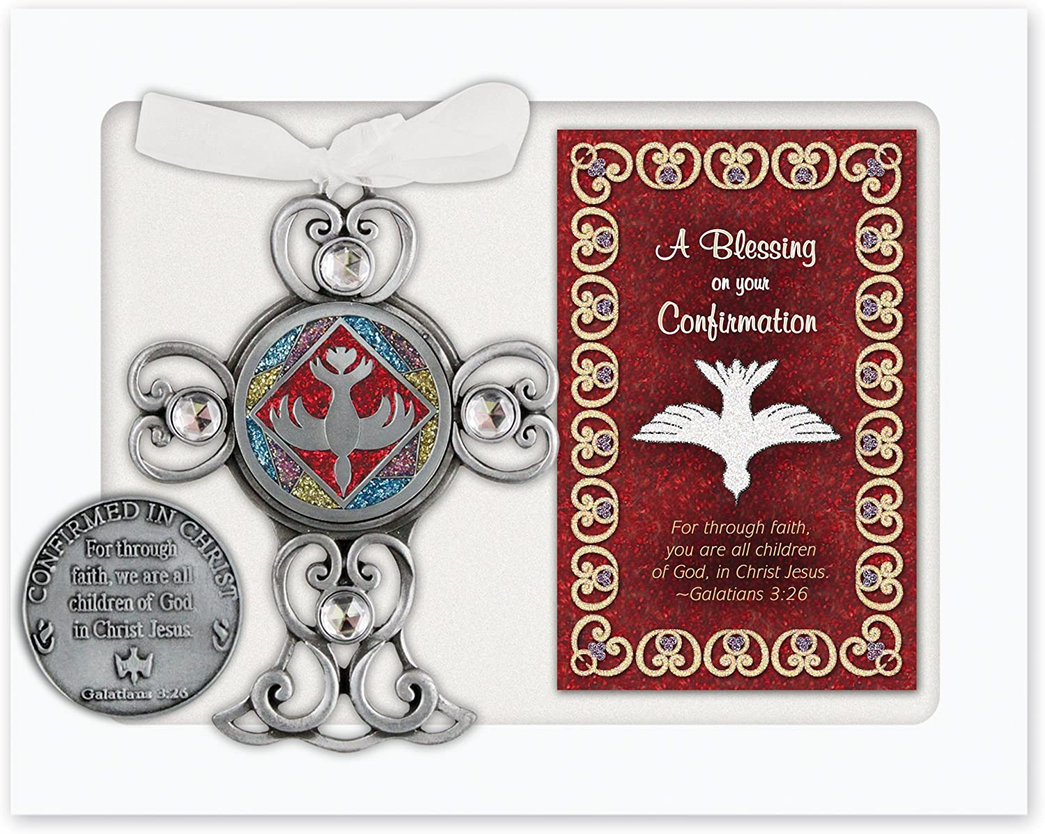 Wall Cross with Blessing Card CA Gift QP430 Confirmation Gift Set