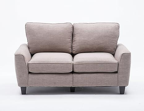"""Amazon.com: Salón sofá 78"""" con madera de hule ..."""
