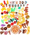 Play Food Set for Kids & Toy Food for Pretend Play - Huge 125 Piece Play Kitchen Set with Childrens Educational Food Toys for Toddlers Inspires Imagination - Fake Plastic Foods for Cooking Edition 1