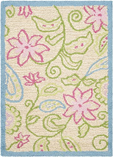 Safavieh Safavieh Kids Collection SFK362A Handmade Ivory and Blue Cotton Area Rug 2 x 3