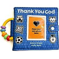 Personalized Prayer Photo Book Album for Newborn, Infant, Baby, Toddler, Godchild, boy or Girl for a Birthday, Baptism…