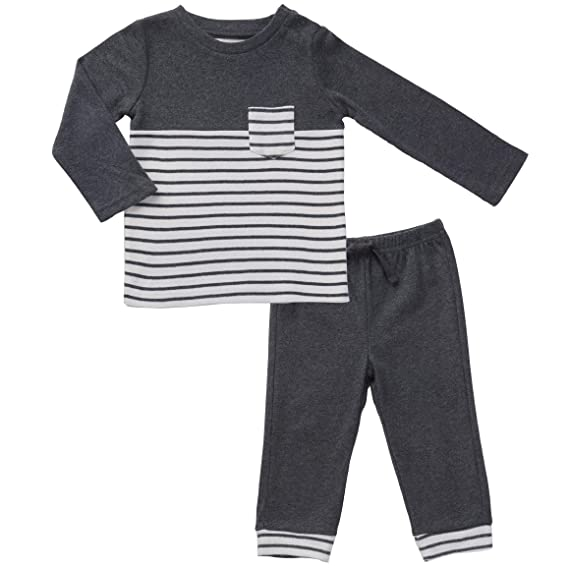 Newborn Baby T Shirt Geometric Pattern Pants Boys Outfits Set Clothing Suit KW