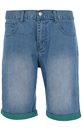 Sweet SKTBS Slim Two Tone Hose Herren Jeans-Short Kurze-Hose Blau für Den 553ed0cfdb