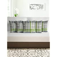 Divine Casa 100% Cotton Cushion Cover Set of 5