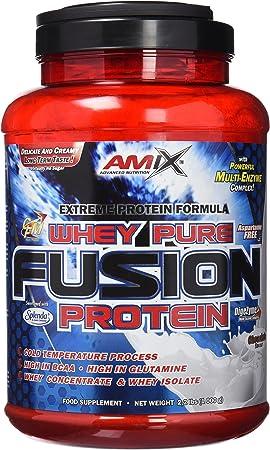 AMIX - Proteína Whey - Pure Fusion - 1 Kg - Concentrado de Suero Ultra Filtrado - Proteína Isolada con Splenda - Contiene L-glutamina - Proteínas para ...