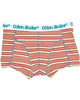 Oiler & Boiler Nantucket Deckchair Stripe Fuschia Short Without Fly Men's Boxers