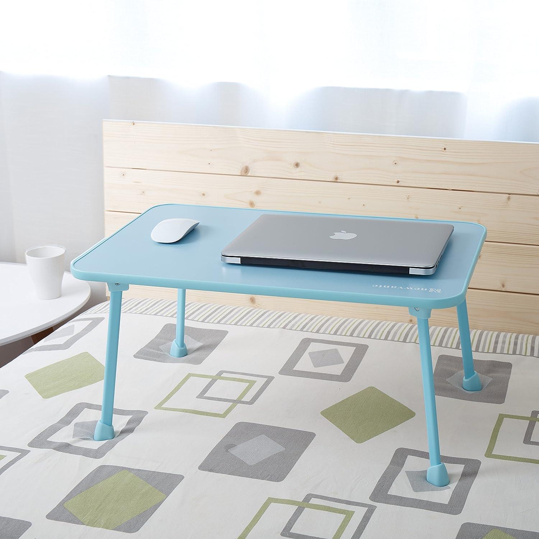 Mesa De Cama Portátil Nnewvante Adjustable Bandeja para Escritura Portátil Plegable Escritorio Escritura para Comer en Cama apoyo de ordenador hasta 17