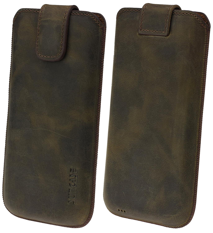 Suncase Original Etui Tasche für Samsung Galaxy J6 (2018) | mit Zusätzlicher HülleSchaleBumper *Lasche mit Rückzugfunktion* Handytasche Ledertasche