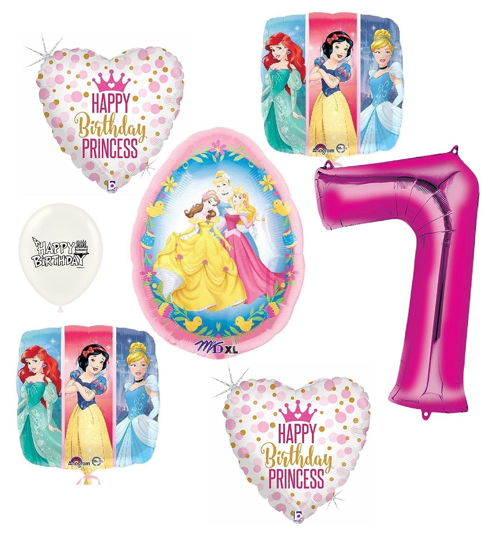 Disney Princess Happy 7th誕生日パーティーバルーンバンドル   B07F1WLQYB