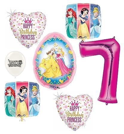 Amazon.com: Disney Princess Globos de fiesta de cumpleaños ...