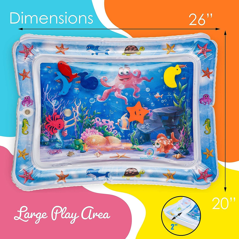 centro de actividades divertidas y divertidas para el juego perfecto para su beb/é 26 x 20 Multicolor Splashinkids Colchones de agua inflables de tiempo boca abajo para beb/és y ni/ños peque/ños