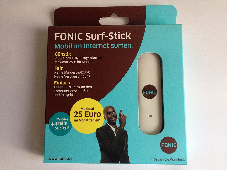 Sim Karte Gratis.Fonic Surfstick 4 E1750 Mit Sim Karte Incl 1tag Gratis Amazon Co