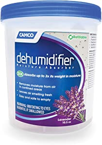 Camco Dehumidifier Moisture Absorber - Absorbs Up to 3x Its Weight in Water, Reduces Moisture and Humidity in Offices, Closets, Bathrooms, Kitchens, Boats, RVs and More – Refillable (44280)