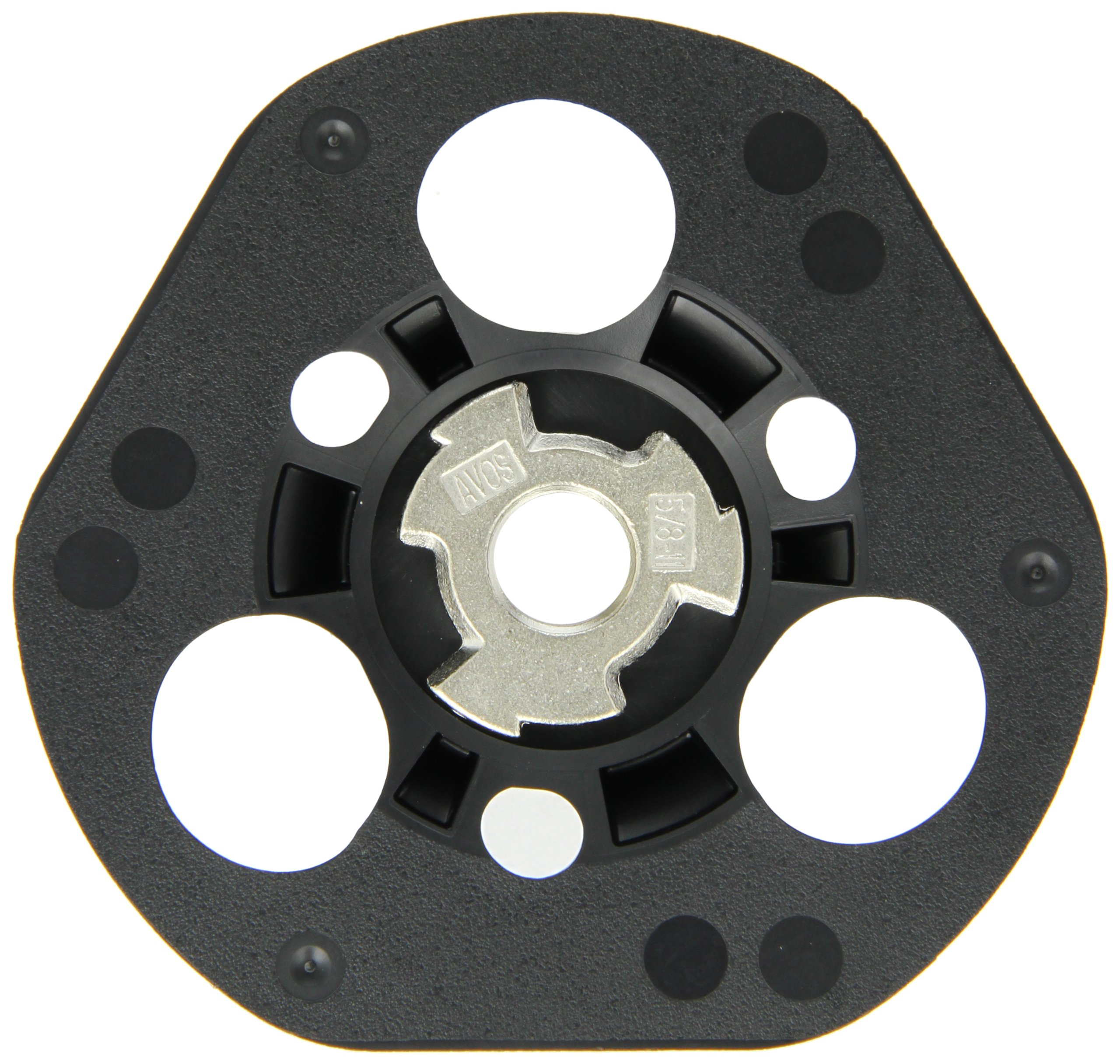 Norton AVOS Edger Speed-Lok Back-up Pad, 4-1/2'' Diameter, 5/8''-11 Sawtooth Arbor, 13000 rpm (Pack of 5)