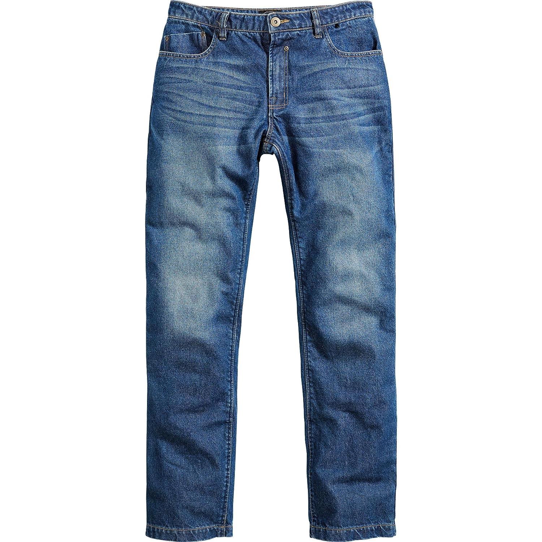 Spirit Motors Motorradjeans Motorradhose Herren Jeans mit Schutzfunktion, 5-Pocket-Jeans im Boot-Cut Style, Taschen fü r Knieprotektoren, abriebfeste Aramid-/Baumwolljeans 1.0, Blau