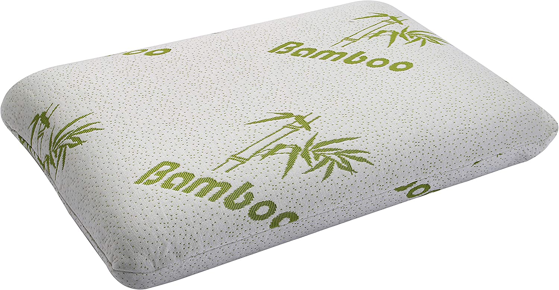 60x40x13 cm Komfort temperaturausgleichend maschinenwaschbar milbensicher hypoallergen Nackenrolle /Fitem Kissen mit Memory-Foam antibakteriell ergonomisch Bezug aus Bambus und Ultra-weich