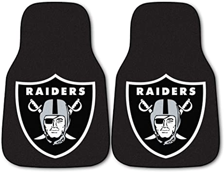 FANMATS NFL Oakland Raiders Nylon Face Deluxe Car Mat