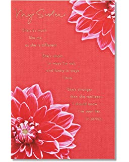 American Greetings My Sister Birthday Card For With Foil