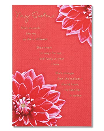 Amazon american greetings my sister birthday card for sister american greetings my sister birthday card for sister with foil m4hsunfo