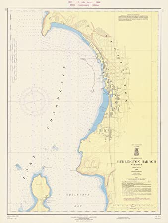 Amazon Com 8 X 12 Inch 1966 Vermont Old Nautical Map Drawing Chart