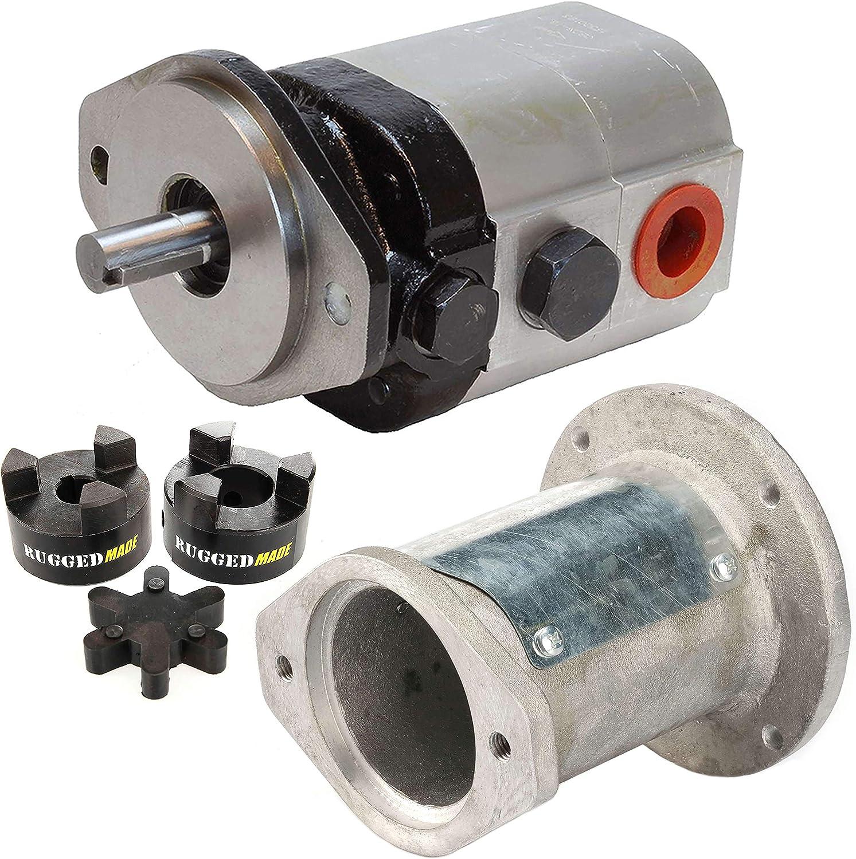 """Coupler 11 GPM Pump Detent Valve 4/"""" Cylinder Log Splitter Build Kit"""