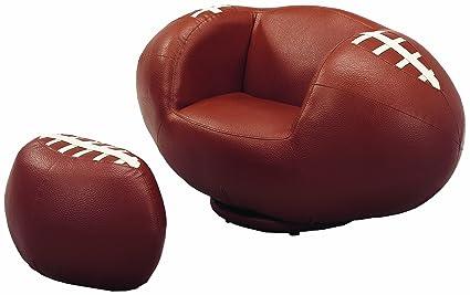 Attractive Crown Mark Football Chair/Ottoman
