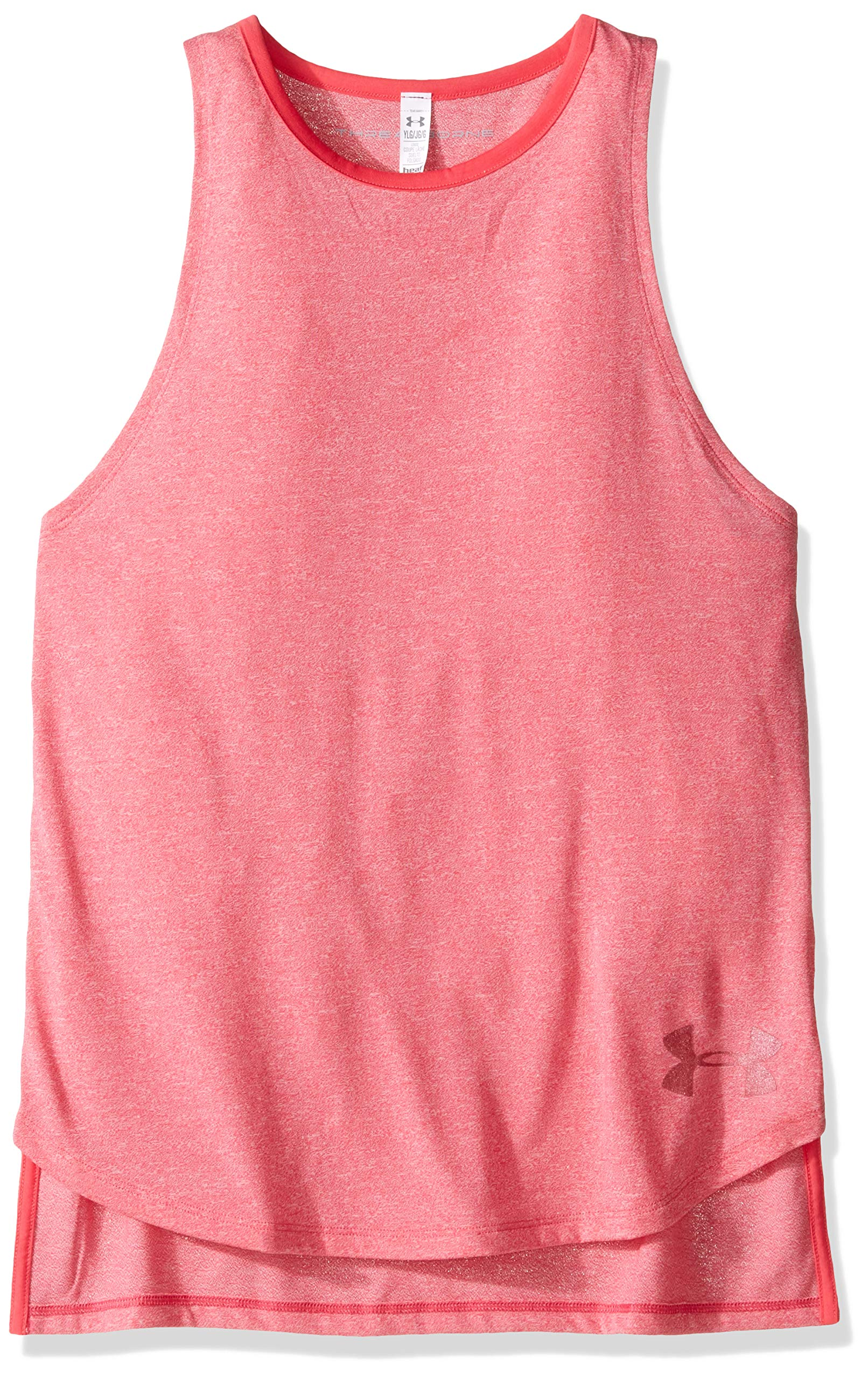 Under Armour Girls Threadborne Play Up Tank Top, Gala /Gala, Youth X-Small