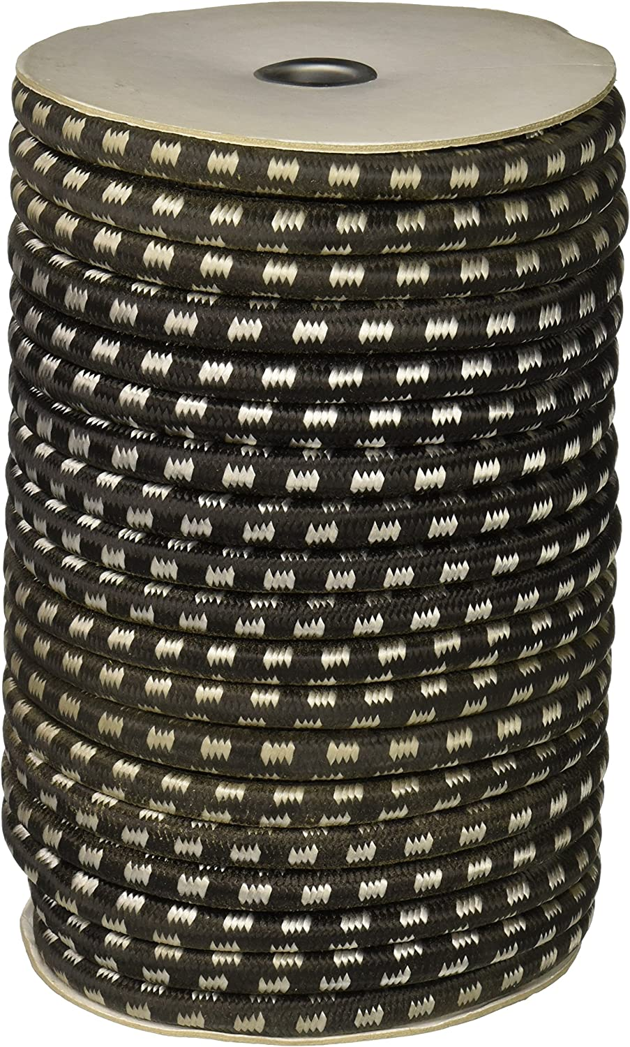 CargoBuckle F05389 7/16-Inch by 100-Feet Utility Stretch Cord Reel, Black - Bungee Cord By The Foot -