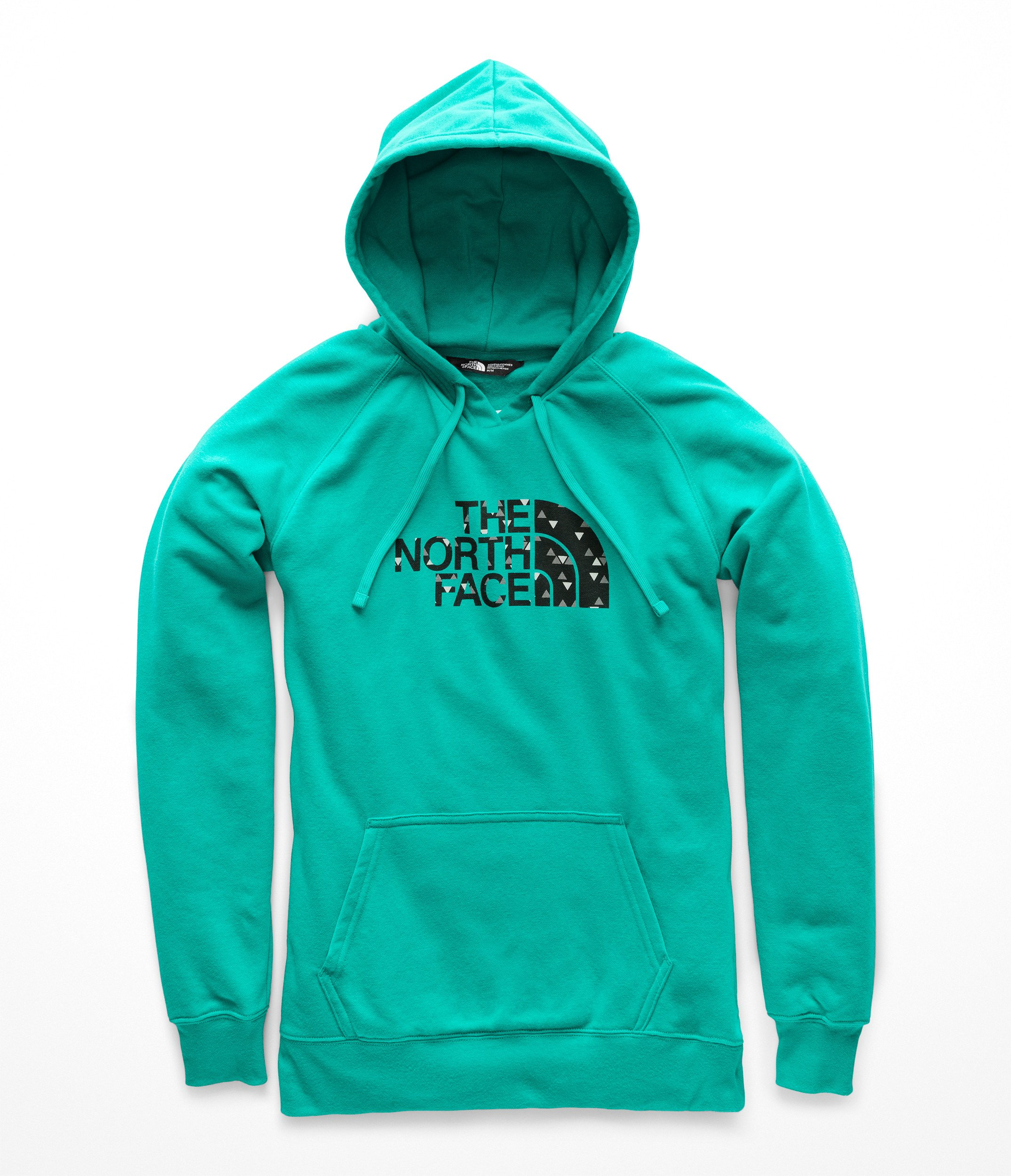 The North Face Half Dome Pullover Hoodie Kokomo Green/Weathered Black Sparse Triangle Print SM by The North Face
