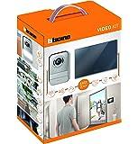 BTicino 317013 Kit Videocitofono 2 Fili Finitura Specchio Mono/Bifamigliare, Compatibile con telecamera IP 391438